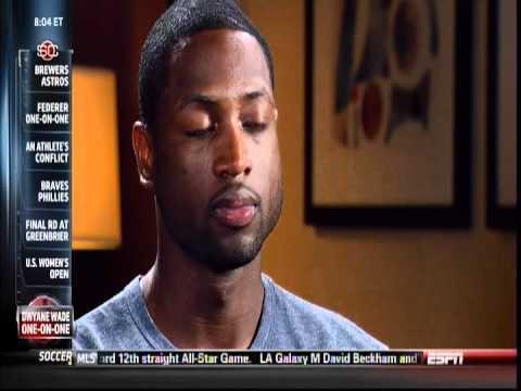 July 08, 2012 - ESPN - Rachel Nichols Interviews Dwyane Wade in Sunday Conversation