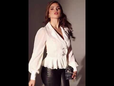 Блуза молочного цвета с воланами внизу. Интернет-магазин Леди-лайн