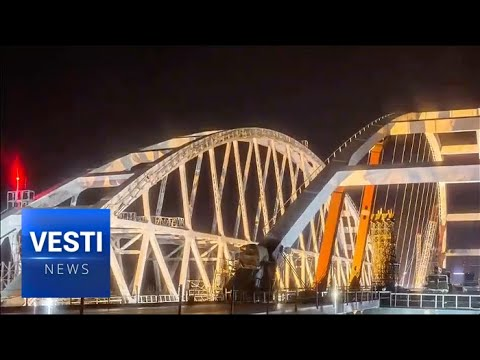 FINAL TOUCH!  The Crimean Bridge Now Spans Between Taman and Kerch