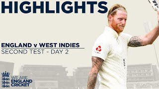 Day 2 Highlights | Stokes Hits Huge 176 As England Pass 450 | England v West Indies 2nd Test 2020