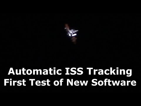 Tracking ISS With New Automated Tracking Software