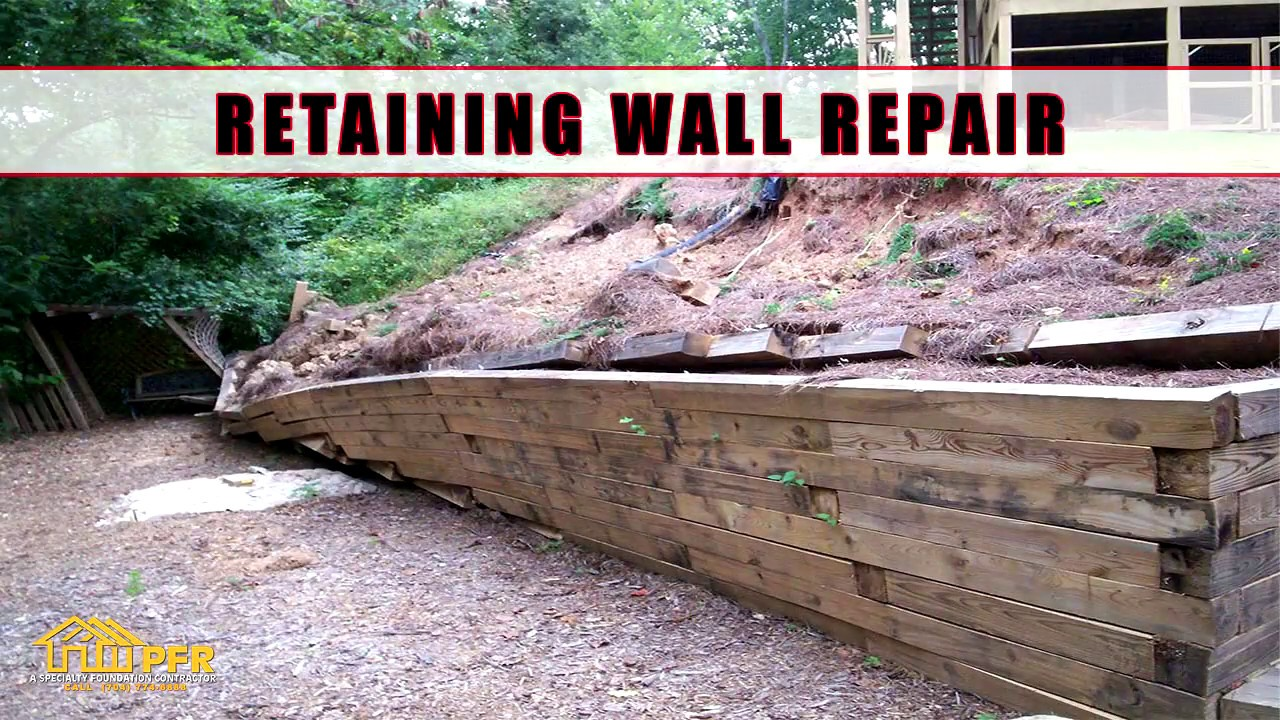 Fixing A Leaning Retaining Wall : Retaining wall repair charlotte nc youtube