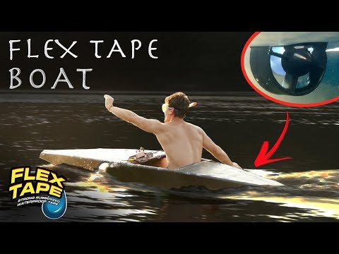 DIY Jet Boat Made From FLEX TAPE!!!