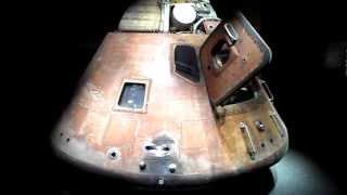 INSIDE APOLLO 14 SPACE CAPSULE COCKPIT NASA KENNEDY SPACE CENTER FLORIDA USA