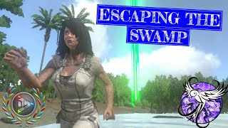 ESCAPING THE SWAMP | The Floor Is Lava EP3 | ARK Survival Evolved Mobile