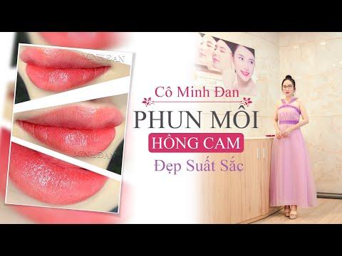 Phun môi Colagen màu Hồng Cam - Đẹp xuất sắc - Thẩm Mỹ Viện Minh Đan - ĐT tư vấn (zalo) 0933 334 883