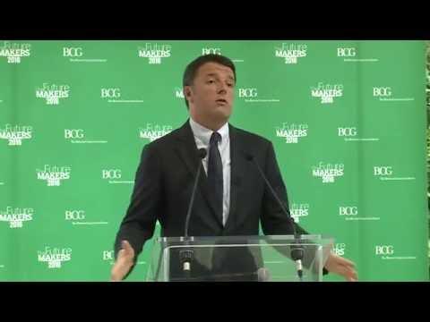 Renzi interviene all'iniziativa The Future Makers (31/05/2016)