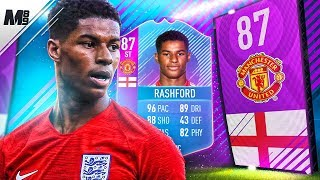 FIFA 18 SBC RASHFORD REVIEW | 87 SBC RASHFORD PLAYER REVIEW | FIFA 18 ULTIMATE TEAM