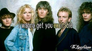 Def Leppard - Excitable [Lyrics] HD