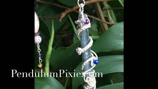 Kyanite Wire Wrapped Pendulum