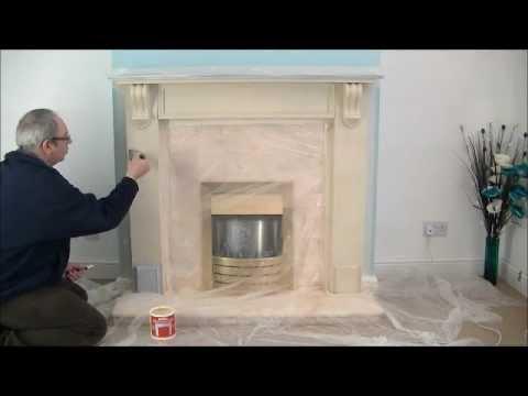 Fireplace Stone Coating Create A Stone Fireplace Youtube
