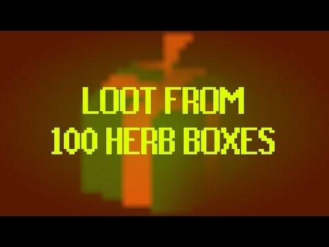 OSRS - LOOT FROM 100 HERB BOXES