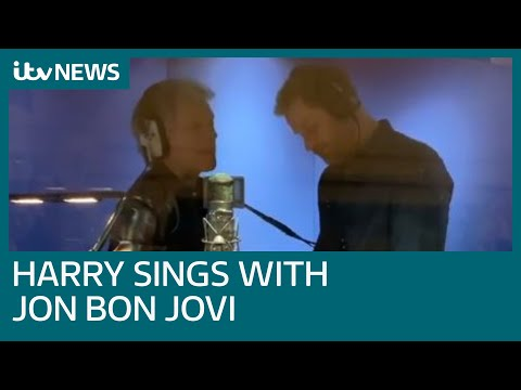 Livin-on-an-heir-Prince-Harry-and-Jon-Bon-Jovi-record-charity-song-at-Abbey-Road-ITV-News