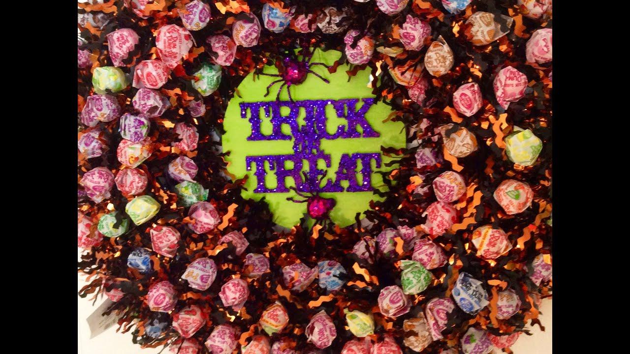 diy halloween candy wreath - Halloween Candy Wreath