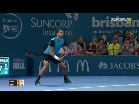 Grigor Dimitrov vs Roger Federer Full Matchᴴᴰ BRISBANE 2016