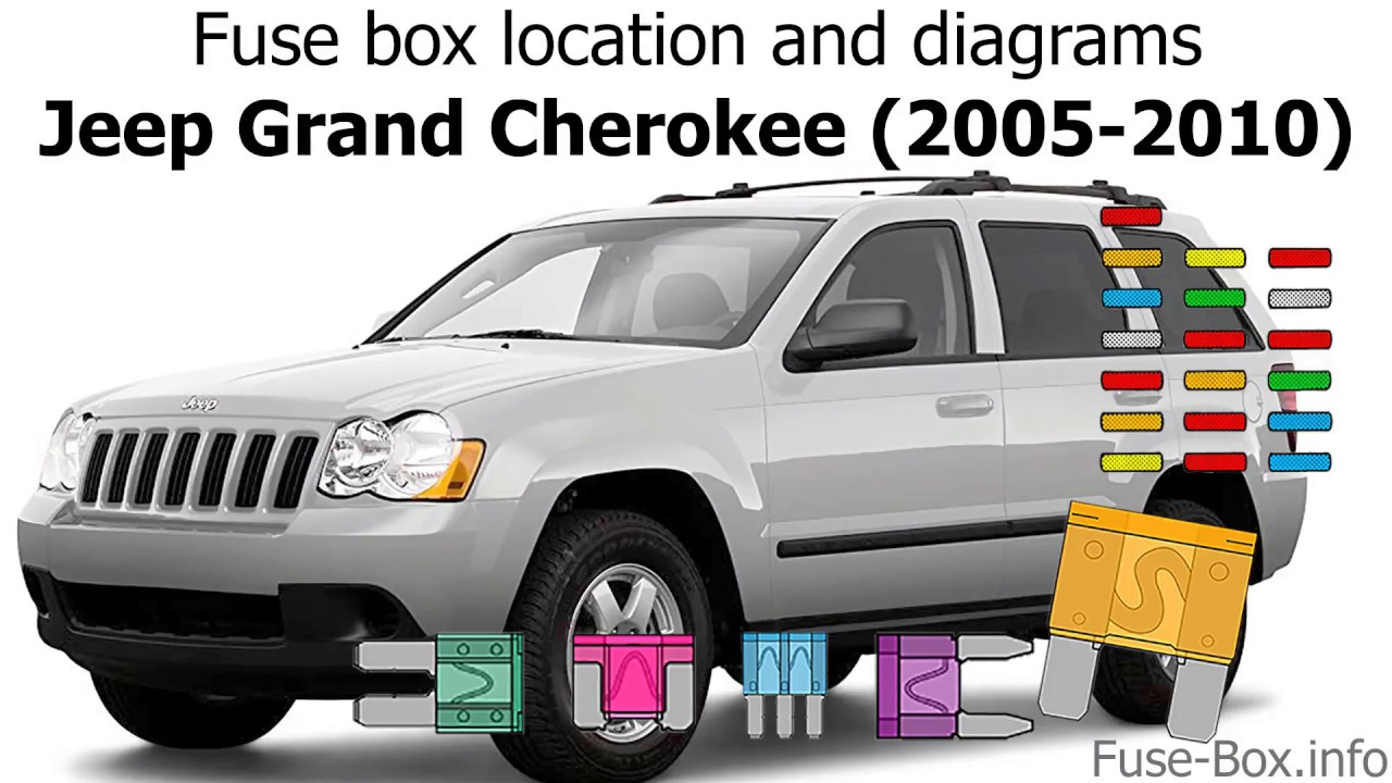 Fuse box location and diagrams: Jeep Grand Cherokee (WK; 2005-2010) -  YouTube | 2005 Jeep Fuse Box |  | YouTube