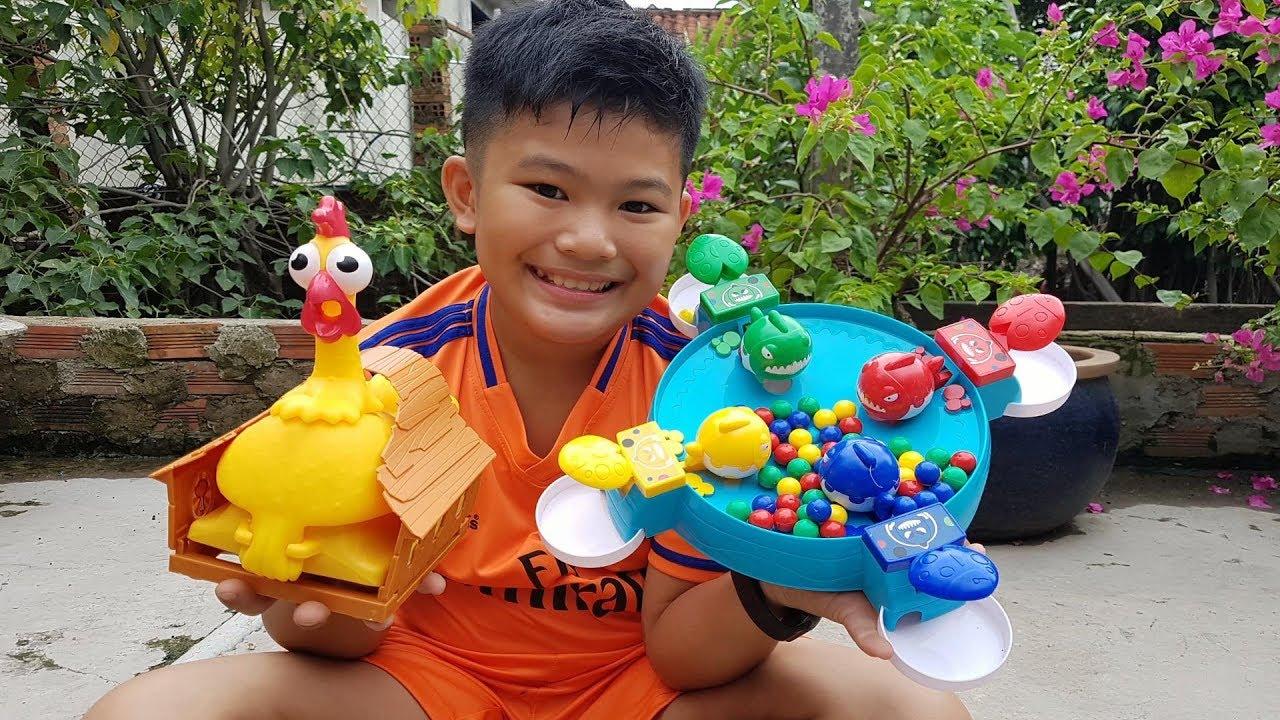 Trò Chơi Bé Vui Bài Hát Gà Gáy ❤ ChiChi ToysReview TV ❤ Đồ Chơi Trẻ Em Kids Fun Song