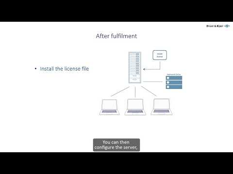 Software Licenses and Delivery – Fulfil a floating license – Brüel & Kjær Mp3