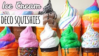 Decorated Ice Cream Squishies | Homemade Squishy Update #8