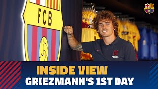 [BEHIND THE SCENES] Griezmann's first day in Barcelona