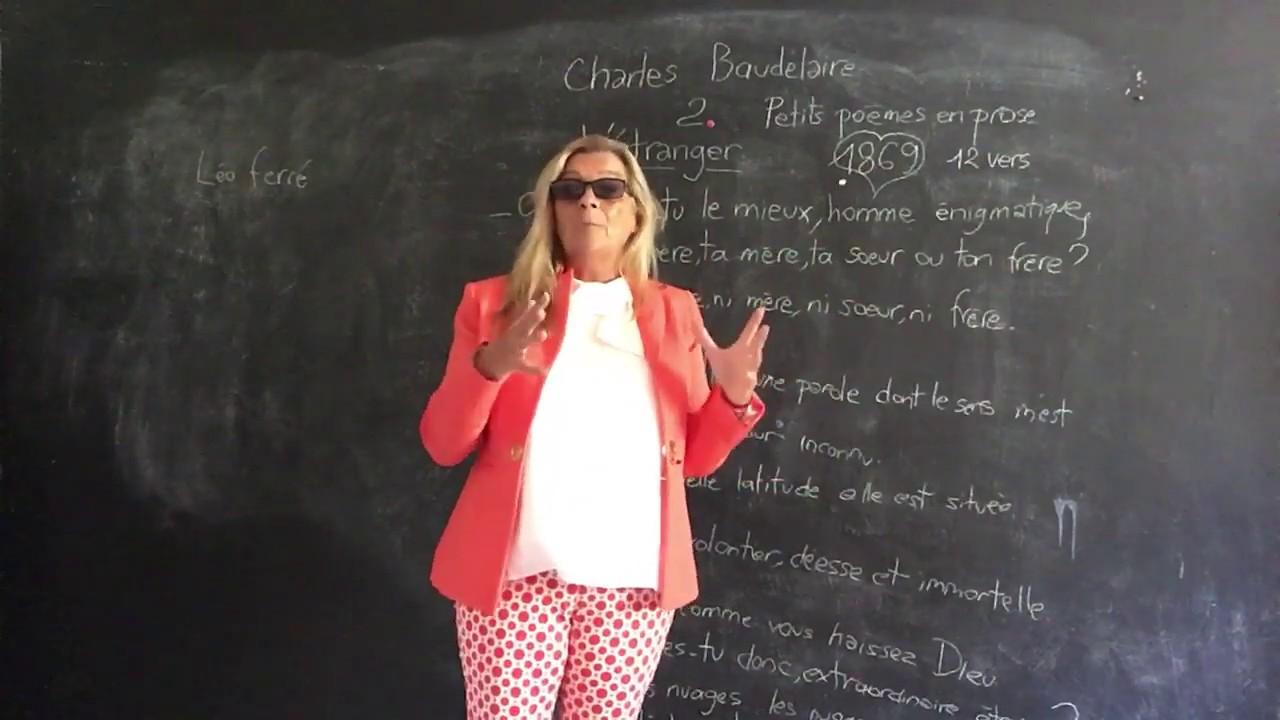 Charles Baudelaire Petits Poèmes En Prose 1869 Létranger Moma School Bac Français