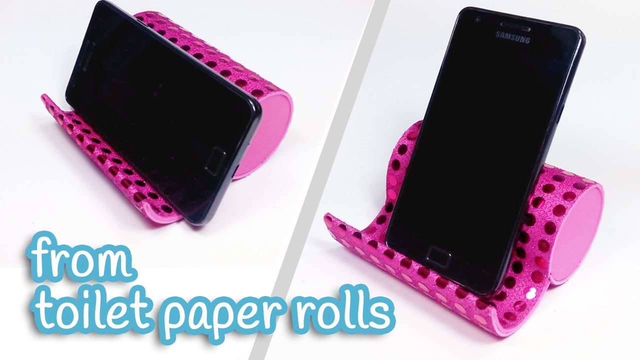 Diy Crafts Phone Holder From Toilet Paper Rolls Innova Crafts Youtube