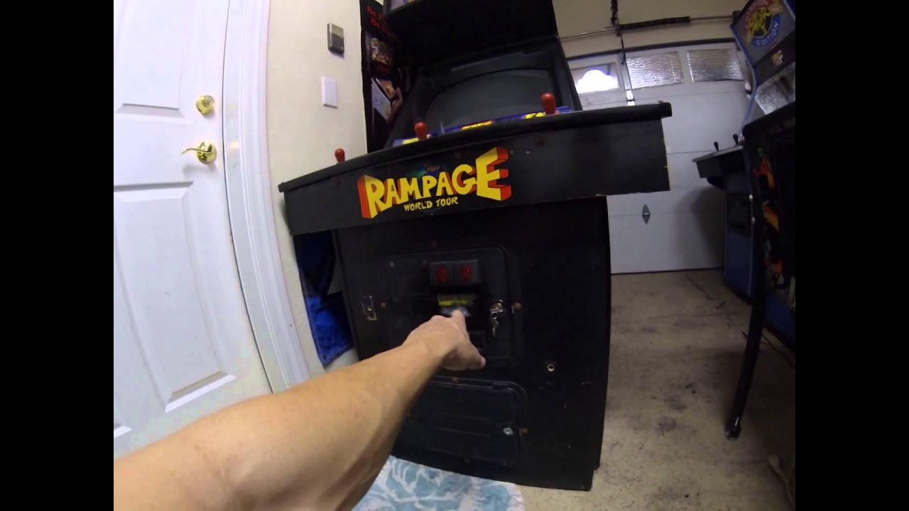 Beautiful Rampage World Tour Dedicated Arcade Cabinet Added To The Collection