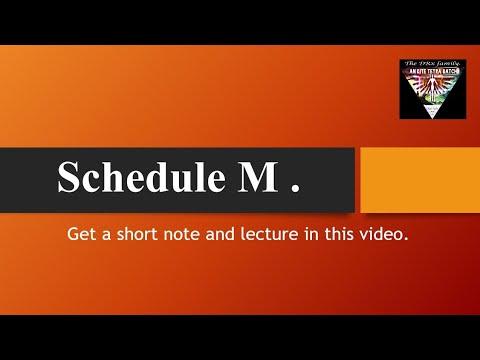 Schedule M In Hindi.