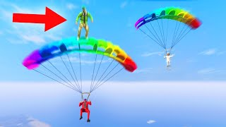 99% IMPOSSIBLE PARACHUTE SURFING! (GTA 5 Funny Moments)