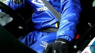 Shiny nylon UMBRO suit for association football