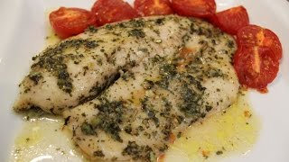Easy Oven Baked Lemon Garlic Tilapia Recipe
