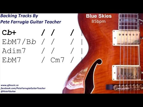 Blue Skies Backing Track