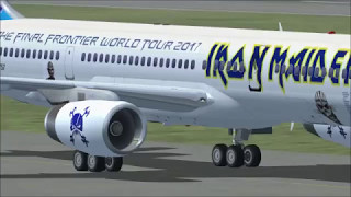 FSX Full flight from Cancun to Mexico with Boeing 757 Iron Maiden