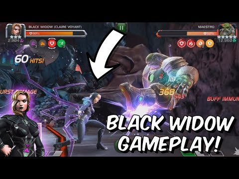 Black Widow Claire Voyant Rank Up & Gameplay! - Marvel Contest Of Champions