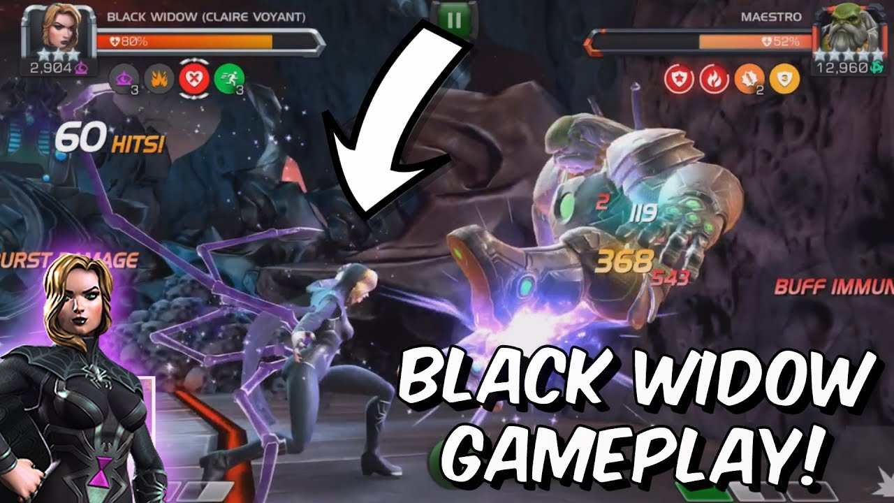 Black Widow Claire Voyant Rank Up Gameplay Marvel Contest Of Champions