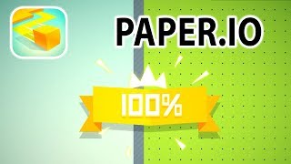 PAPER.IO | GETTING 100% IN A FEW MINUTES | HOW TO WIN PAPER.IO