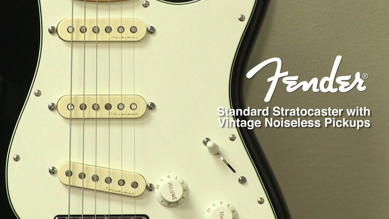 fender standard stratocaster with vintage noiseless pickup mod review by sweetwater [ 1280 x 720 Pixel ]