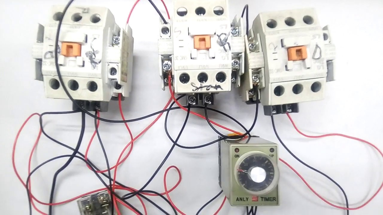 medium resolution of a simple auto star delta circuit how to make auto star delta start