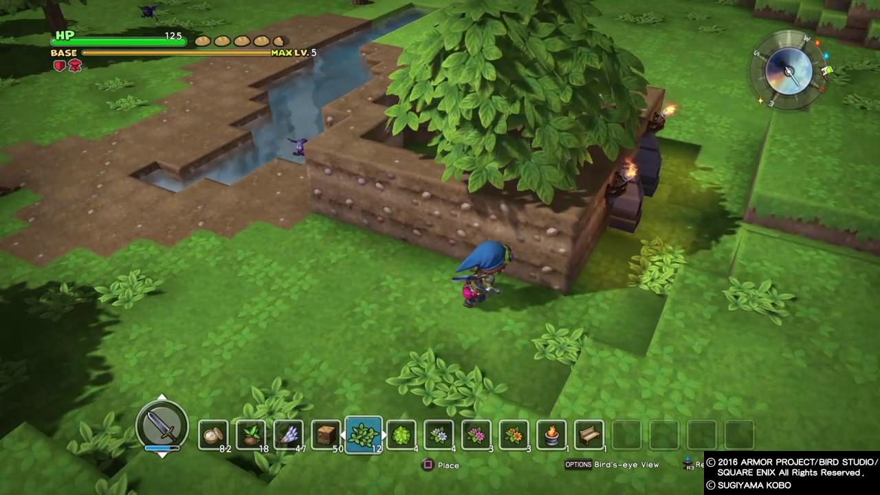 Dragon Quest Builders Cantlin Garden Challenge Easy Way Youtube