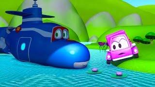 Carl el Super Camión y el Carrito Rosa  en Auto City | Dibujos animados para niños