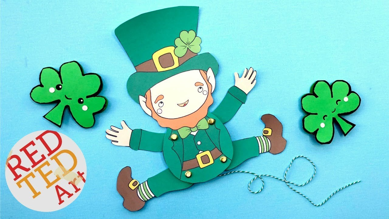 graphic regarding Leprechaun Cut Out Printable known as Leprechaun Paper Puppet Do it yourself for St Patricks Working day - enjoyment Paper St Patricks Working day Do-it-yourself and printable