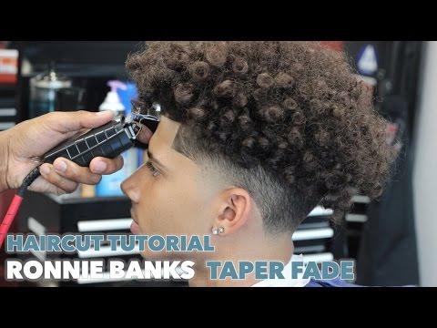 HAIRCUT TUTORIAL: RONNIE BANKS TAPER FADE