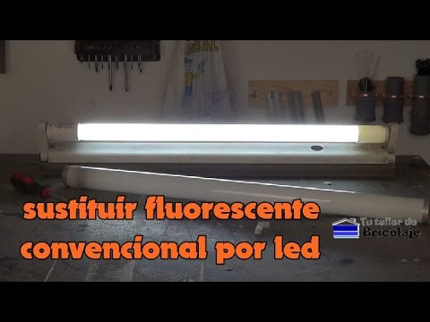 C mo sustituir un fluorescente convencional por uno led for Sustituir fluorescente por led