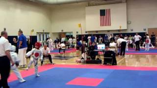 Sergio Olympic Sparring Round 1 Michigan Tae Kwon Do Tournament 2011
