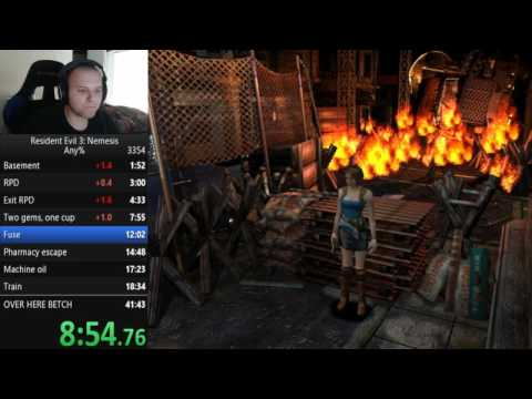 Resident Evil 3 any% World Record 41:30