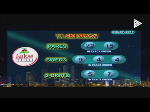 PCSO 11 AM Lotto Draw, December 27, 2017