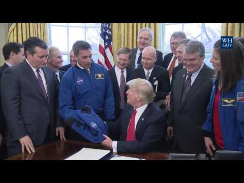 President Donald J. Trump signs NASA Transition Authorization Act of 2017