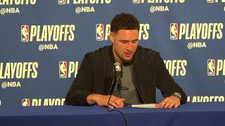 Klay Thompson Postgame interview / GS Warriors vs Spurs Game 5
