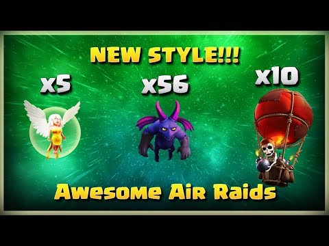 New Style: 56 Minions+ 10 Balloons | TH11 War Strategy #192 | COC 2018 |