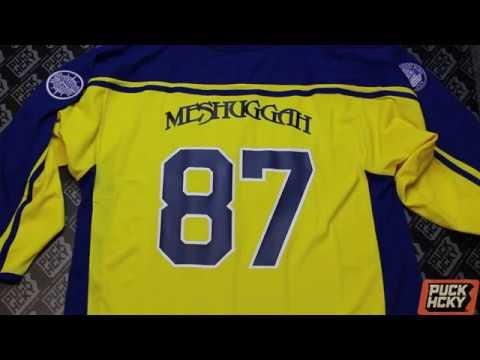 e5fa648a2d8 MESHUGGAH X PUCK HCKY -  Tre Kronor  (maize) Hockey Jersey - YouTube